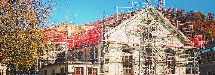 Gerüst Turnhalle Sägegasse Umbau zur Kulturhalle Sägegasse Burgdorf